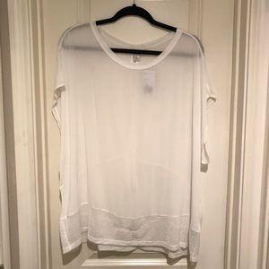NWT Forever21 White Sheer Blouse